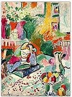 フランスのマティス抽象壁アートヴィンテージポスター水彩油絵有名なアートワークキャンバスプリントリビングルームの壁の装飾画像40x60cmフレームなし