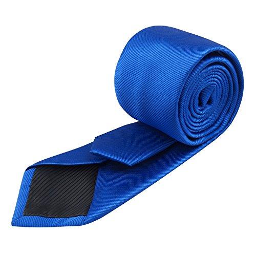 Krawatte royalblau - Seidenkrawatte - Pietro Baldini Schlips handgefertigt 150 * 7 (Royalblau)