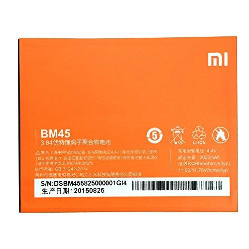 Batería de repuesto para móvil Li-ion backup-Batería (3020 mAh) para Xiaomi (Redmi Note 2 BM45)