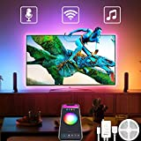 LED Strip 3M, Smarte LED TV Hintergrundbeleuchtung USB strip Lichtband mit Fernbedienung für 46-60 Zoll LED Beleuchtung Fernseher, Work with Alexa/Google Home, Syne with Music by Avatar Controls