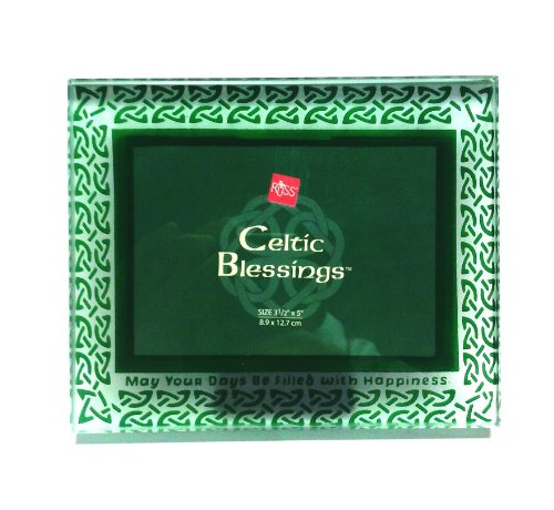 Celtic Blessings with Celtic Knots Glass Photo Frame (3 1/2' x 5')