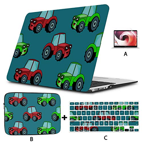 Mac Book Case Cartoon Animation Retro Toy Tractor 15 Inch Macbook Case Hard Shell Mac Air 11'/13' Pro 13'/15'/16' With Notebook Sleeve Bag For Macbook 2008-2020 Version