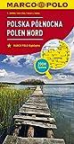 MARCO POLO Karte Polen Nord 1:300 000: Wegenkaart 1:300 000 (MARCO POLO Karten 1:300.000) -