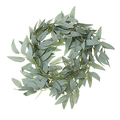 BestforU 170CM DIY Wedding Party Faux Plants Willow Vine Garland Artificial Leaves Eucalyptus Rattan(Willow Rattan,Grey)