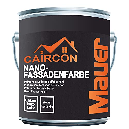 Fassadenfarbe Nano Wandfarbe Aussen Hausfarbe Aussenfarbe - Reinweiss 5L