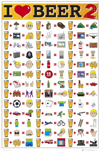 GB eye Ltd GN0256 I Love Beer 2, Maxi Poster, (61 x 91,5 cm) [Lingua Inglese]