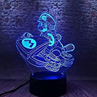 giyiohokカラフルなドラゴンボール超サイヤ人3DLEDナイトライト7色変更タッチタッチUSBパワード点滅ファッションデスクテーブルランプキッズバースデーギフトホームベッドルームデコレーション-N2-N12