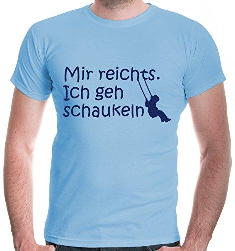 buXsbaum Herren T-Shirt Mir reichts. Ich geh schaukeln | Sprüche Funshirt | XL, Blau