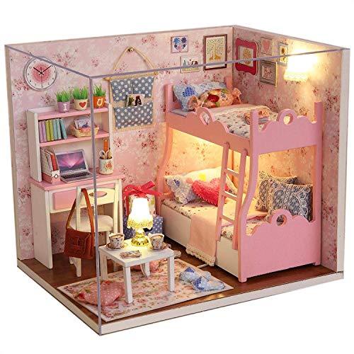 Txyk casa delle bambole in legno fai da te, kit in miniatura per ragazze, casetta delle fiabe, casa decorativa, regalo di Natale (lingua italiana non