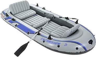 BZLLW Kayak Inflable, Kayak Set con 5 Persona Kayak Inflable, Inflable con remos del Barco de Pesca de Aluminio con remos y Bomba de Aire, de Agua for Adultos Deporte