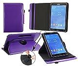 emartbuy® Alcatel OneTouch Pixi 3 10 Zoll Tablet Universal (9-10 Zoll) Lila Premium PU Leder 360GradRotierendeStandFolioGeldbörseTascheHülle + Lila Eingabestift