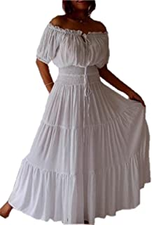 LOTUSTRADERS Stunning Short Sleeve Mexican Peasant Dress A763 3cba7e3704d3
