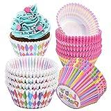 300 Pezzi Cupcake Carta, Pirottini di Carta per Muffin, Mini Pirottini per Cupcake e Muffin, Pirottini Colorati per Cupcake e Muffin, Pirottini per Torte per Dessert Matrimonio Festa di Compleanno
