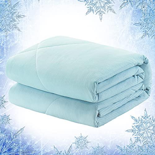 Elegear Sommerdecke Kühldecke Steppbettdecke - Arc-Chill Kuscheldecke Körperwärme Aufnehmen für Besseren Schlaf Antiallergisch Decke Superweicher Wohndecke Kühldecke für Erwachsene Kinder, 200x220CM