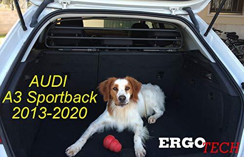 ERGOTECH Trennnetz Trenngitter Hundenetz Hundegitter RDA65HBG-XXS für Audi A3 Sportback BJ 2013-2020.