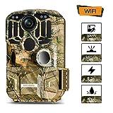 TOGUARD WLAN Wildkamera mit Bewegungsmelder Nachtsicht 20MP 1296P Video Jagdkamera mit 120 ° Weitwinkel IP66 Wasserdicht Überwachungskamera mit 2' LCD Display