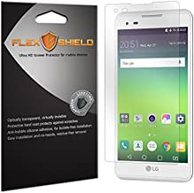 FlexShield Screen Protector Compatible with LG Tribute HD (LS676, Boost Mobile, Virgin Mobile)(5-Pack) Anti-Bubble and Scratch Resistant Clear PET Film