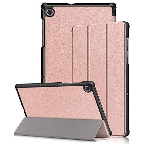 Kemocy Funda para Lenovo Tab M10 Plus TB-X606F/TB-X606X, ultrafina, de piel sintética, con función de soporte, funda para Lenovo Tab M10 FHD Plus de 10,3 pulgadas, color oro rosa