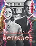 Marvel WandaVision Wanda & Vision Notebook : Blank Lined Notebook Primary Ruled With Dotted Midline
