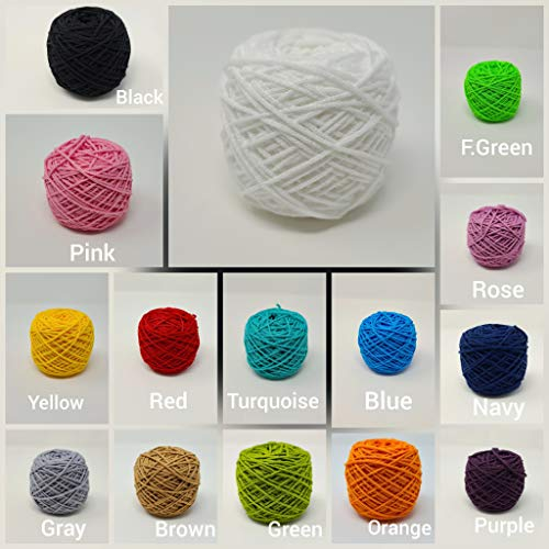 20 Yard Colorfol Elastic Super Soft Cord Cording Made for Masks White Earloop Strap String(Elastic Cord for mask) (Red)