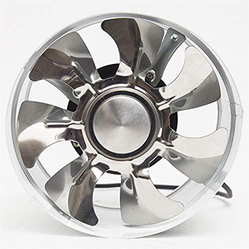JYDQM Ventilatore da 8 pollici Ventilatore d'aria Ventilatore con Tubo metallico Ventilatore di scarico Mini estrattore Ventilatore da bagno Ventilatore da parete