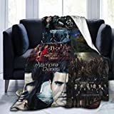 AIMOM The Vampire Diaries Blanket Soft Cozy Throw Blanket Flannel Blankets for Couch Bed Living Room 40 X 50 Inch