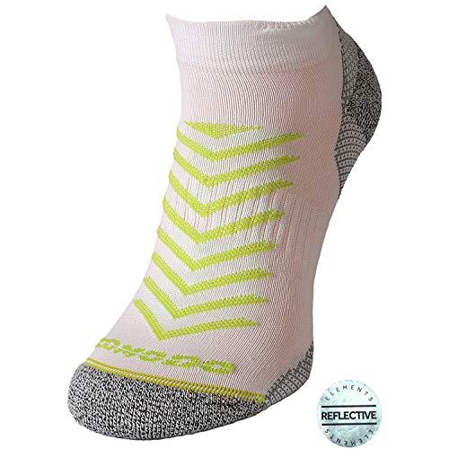 Comodo – Calcetines para Hombre y Mujer, Antideslizantes, 1 par de Calcetines Deportivos con talón y Dedos Reforzados, Todo el año, Unisex, Color RUN8 / Blanco/Lima, tamaño 39-42