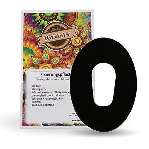 Dexcom G6 Fixierungstapes - Schwarz | Diasticker® (10)