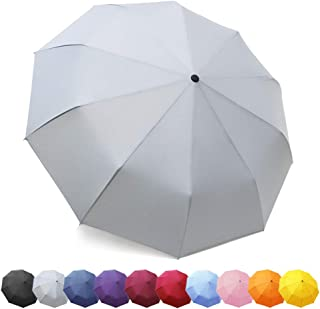 ZOMAKE Folding Umbrella - Compact Travel Umbrella Auto Open Close Lightweight Windproof Canopy Compact with Light Reflective Gift Waterproof Bag …