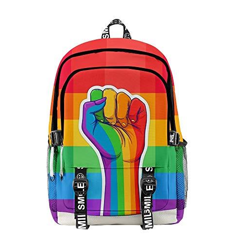 INSTO Backpack,School Bag Student Satchel,LGBT Cartoon Printed Rucksack Simple Fashion / A3 / 30×18×44cm