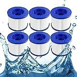 Cartucho de filtro de repuesto para spa y jacuzzi (6 unidades)