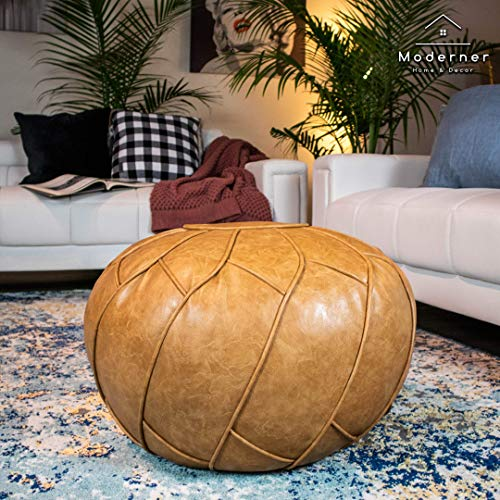 Moderner Faux Leather Pouf