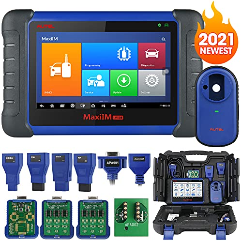 Autel MaxiIM IM508 Advanced Key Fob Programming Tool, 2021 Newest Automotive Diagnostic Scanner with XP200 Key Programmer, All System Diagnosis, 25+ Services, ABS Autobleed, Oil Reset EPB  DPF SAS BMS