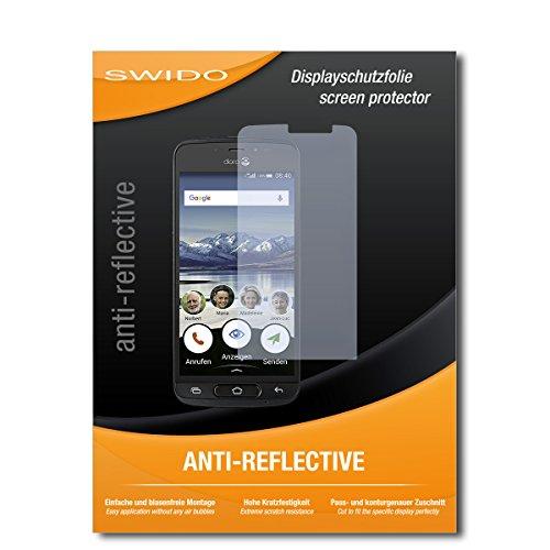 SWIDO Schutzfolie für Doro 8040 [2 Stück] Anti-Reflex MATT Entspiegelnd, Hoher Festigkeitgrad, Schutz vor Kratzer/Bildschirmschutz, Bildschirmschutzfolie, Panzerglas-Folie