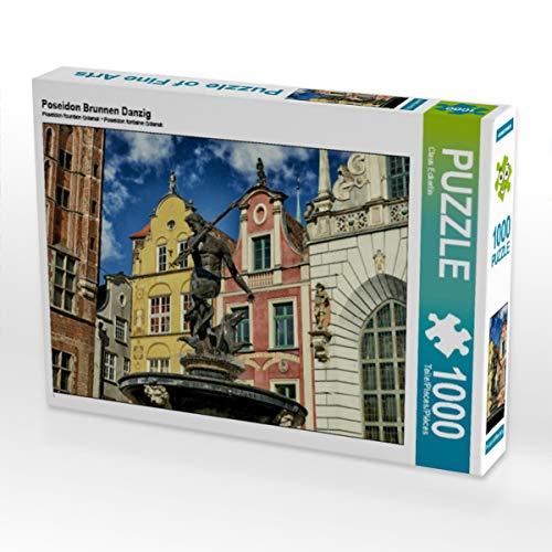 CALVENDO Puzzle Poseidon Brunnen Danzig 1000 Teile Lege-Größe 64 x 48 cm Foto-Puzzle Bild von Claus Eckerlin