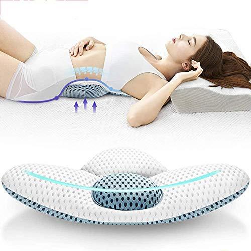 Lendensteun Kussen Slaapkussen Verstelbare Driehoek Kussen Ondersteuning Onderrug Bed Taille Zwangere vrouw Pijn Elektrische massage