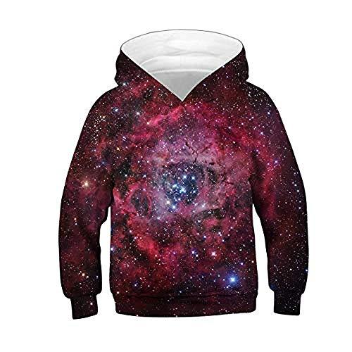 CYFLY® SweatshirtUnisex 3D Hoodie Kinder Mädchen Jungen Fröhlich Print Pullover Hoodie Langarm Hoodie Alter 4-16 @ S- (Höhe: 115-125CM) _Galaxy_4
