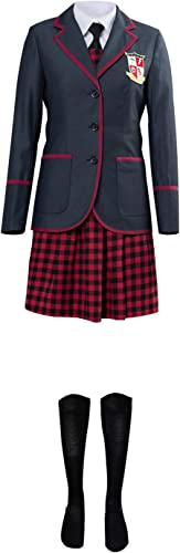 Huiyemy The Umbrella Academy Teenagern Schuluniform Cosplay Kostüm mädchen Uniform Damen XL