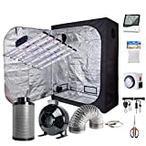 Oppolite 1800W LED Grow Light Actual Power 360W Full Spectrum+60'X32'X80' Indoor Growing Tent+6' Inline Fan Filter Ventilation Kit Hydroponic Plant Veg and Flower