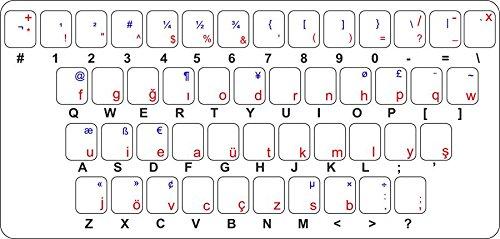Stickers voor toetsenbord alfabet letter computer Turks Ottoman