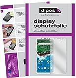 dipos I 2X Schutzfolie klar kompatibel mit BQ Aquaris X2 Pro Folie Bildschirmschutzfolie
