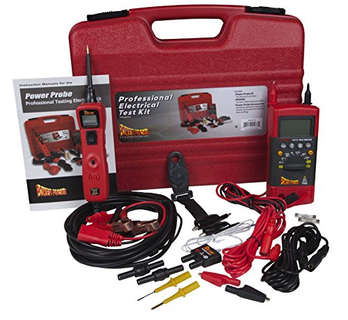 Power Probe Professional Electrical Test Kit - Red (PPROKIT01) Inc III w/PPDMM & Accessories [Measures Resistance, Current & Frequency]