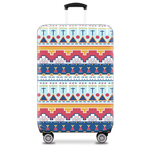 Nasher Miles Eco Friendly Polyester 75 cm (28 Inch) Large Protective Luggage Cover (White)