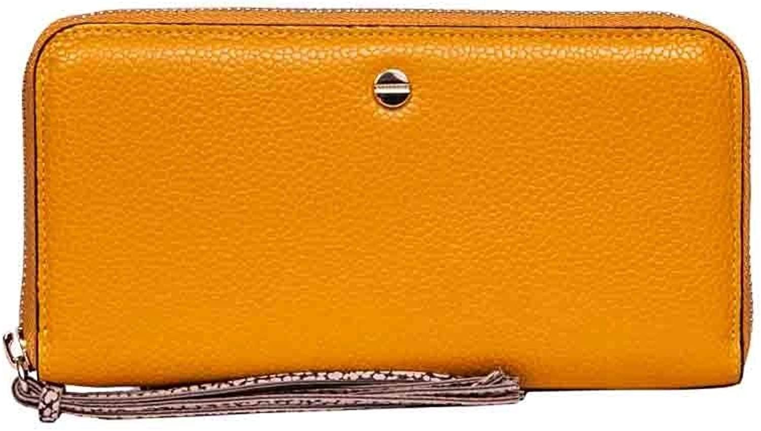 Borbonese Women's 950197F96707 Yellow Leather Wallet