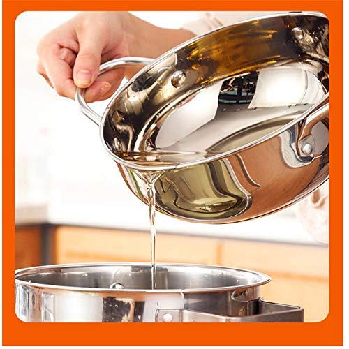 GLLCYL Mini Freidora Presentacion, Sartén Antiadherente De Acero Inoxidable con Tapa para Freidoras De Cocina Freidora Pequeña - 304 Material