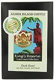 Aloha Island Coffee Dark Roast Organic 100% Pure Kona Coffee Pods, 18 Pods, 18-Count