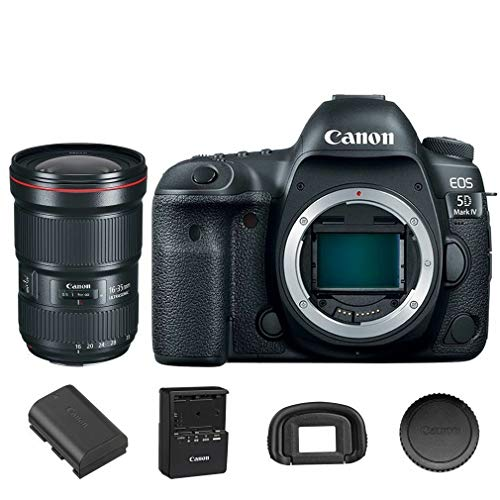 Best Price! Canon EOS 5D Mark IV DSLR Camera Body with EF 16-35mm f/2.8L III USM (International Mode...