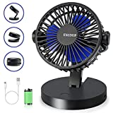 EXCOUP Battery Operated Fan, USB Fan Small Desk Quiet Noise