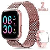 AIMIUVEI Smartwatch, Reloj Inteligente Mujer Hombre IP67 con...