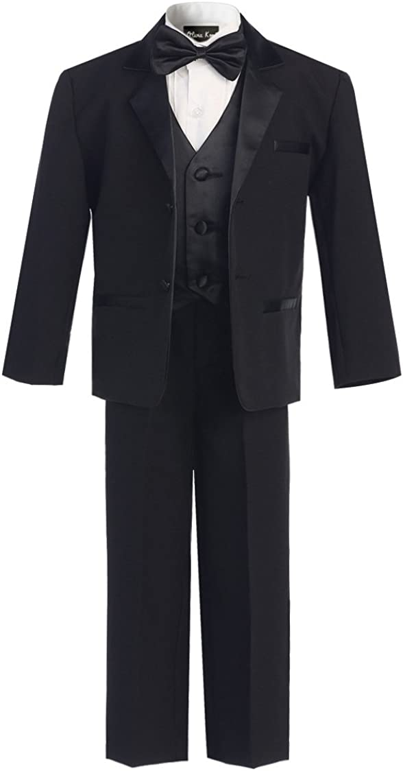 OLIVIA KOO Boy's Classic Tuxedo Suit Al sold out. with security Tail No
